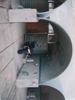 ライダースイン室戸の車庫部分