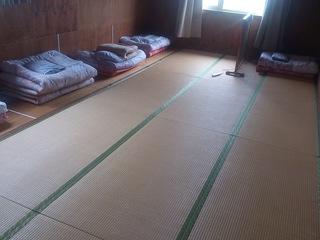 クリオネキャンプ場のゲストハウスの寝室