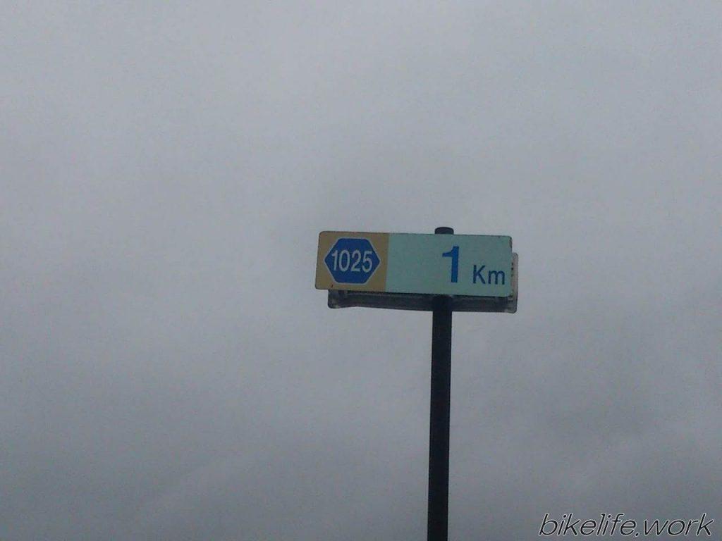 4桁の道道1025号線