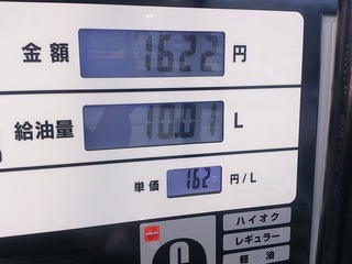 ガソリンスタンドの表示