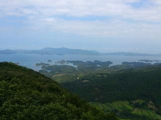 冷水岳公園から九十九島の島々を臨む