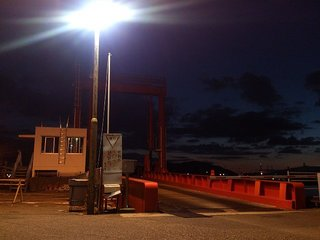 スオーナダフェリー乗り場の夜景