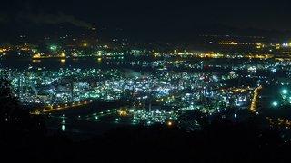 鷲羽山スカイラインからの工場夜景