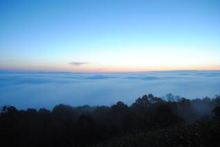 三次の霧の海展望台から見る幻想的な風景