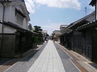 竹原の町並み保存地区の通り