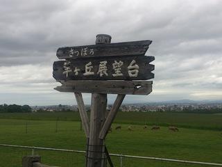 札幌ドームも見える羊ケ丘展望台