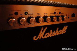 マーシャルのアンプ
