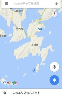 広島県最南端の有人島となる鹿島の地図