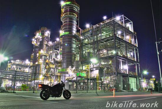 ダイセル大竹工場の工場夜景