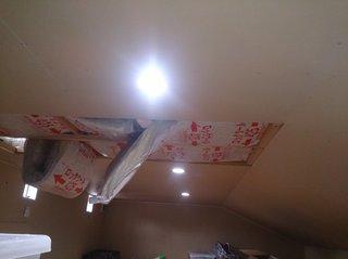 屋根裏収納の照明の点灯
