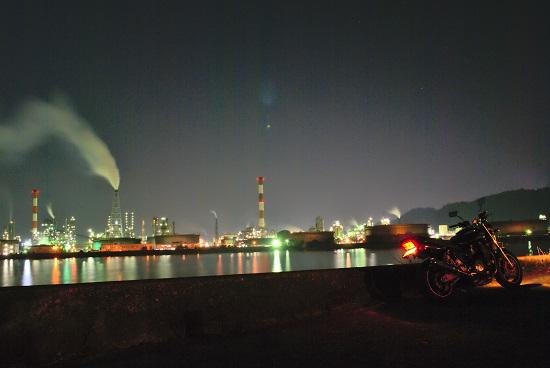 大竹で撮影した工場夜景