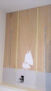 エコカラットを貼る脱衣所の壁
