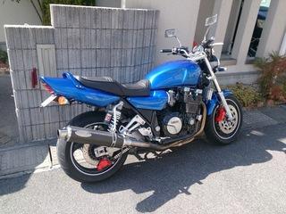 塗装してきれいになったバイク