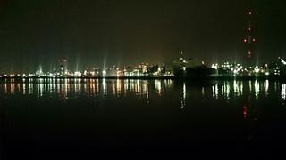 四日市ドームから撮影した工場夜景