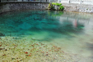 コバルトブルーの弁天池