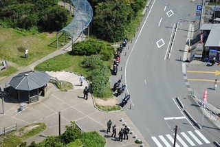 角島を訪れた多くのツーリングライダー