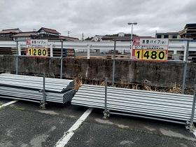 単管ガレージを作る為の単管3m4m