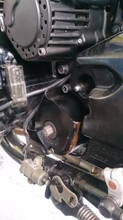 XJR1200から漏れたクラッチフルード