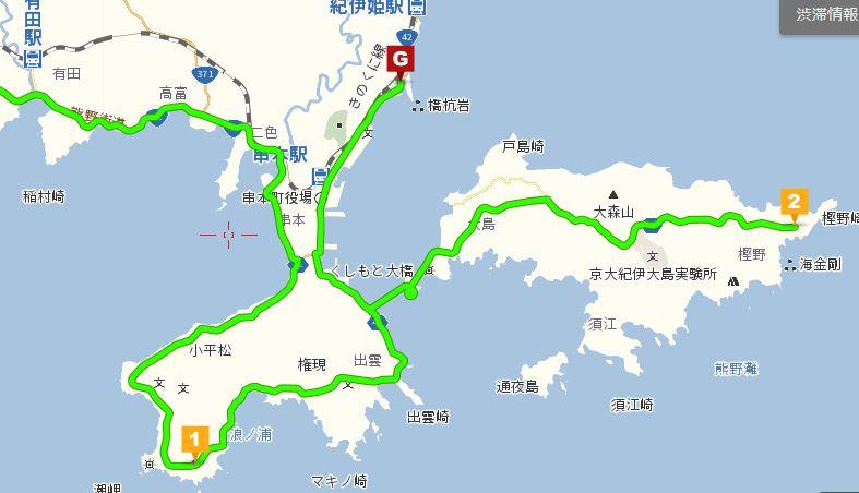 橋杭までの地図