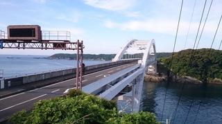 くしもと大橋で行われたスイフトのCM撮影