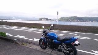 くしもと大橋とXJR1200