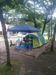 のとろ原キャンプ場のテントサイト