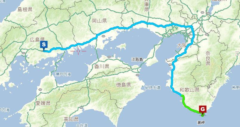 潮岬までのルート2