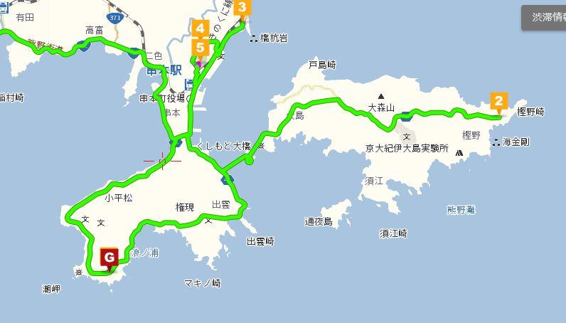 串本付近の地図