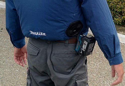 マキタの空調服のバッテリー