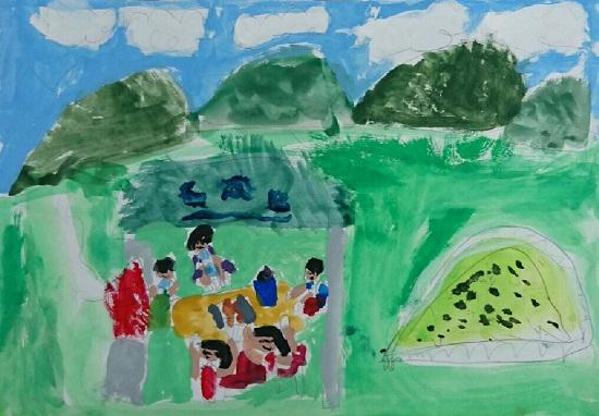 緑水湖キャンプ場の絵