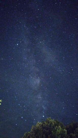 スマホで撮影した星空の写真