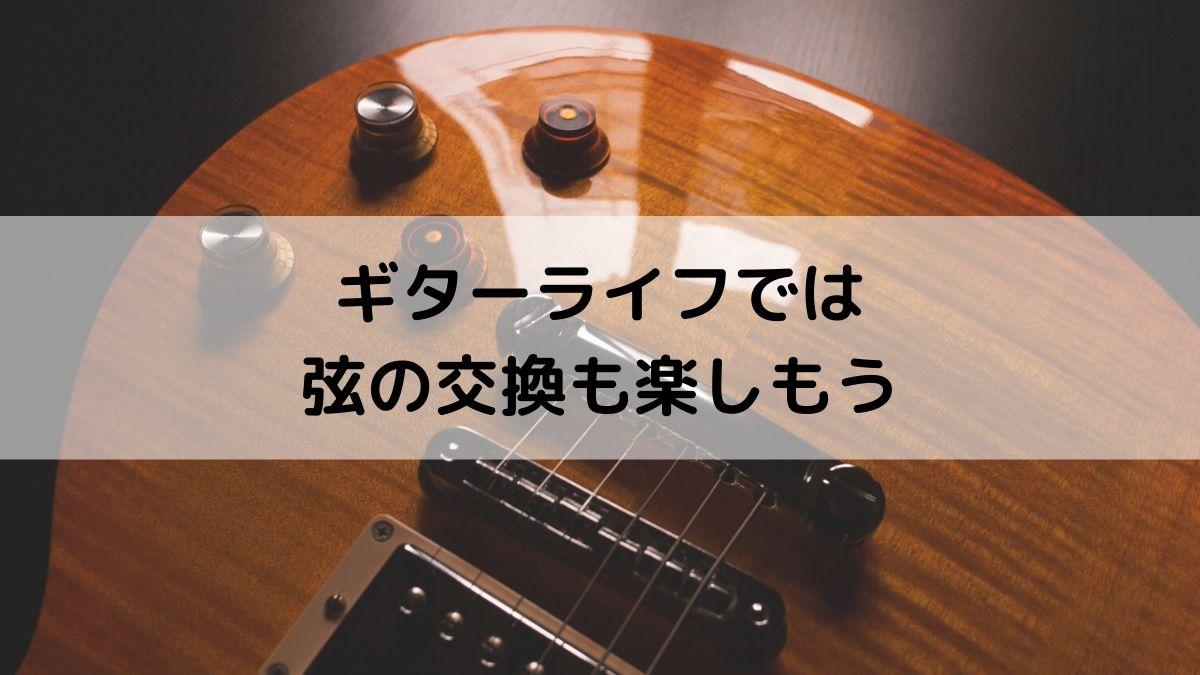 ギターの弦を交換するのも面白い