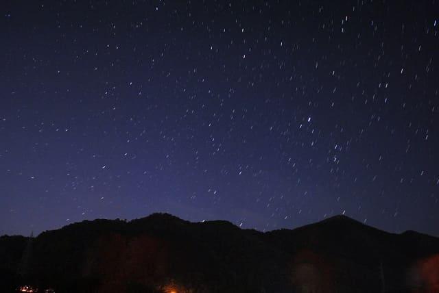 シリウスコンプで合成した星空の写真