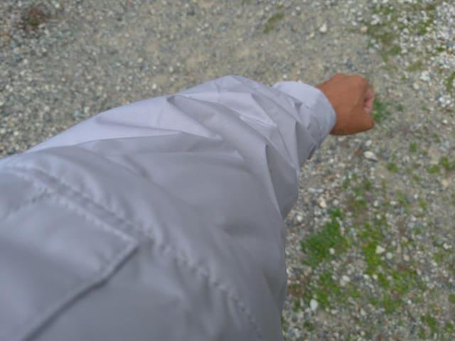 長袖の状態の空調服