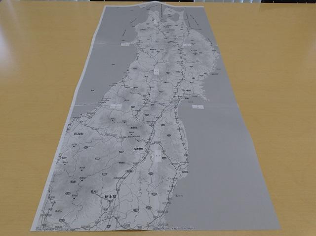 マピオンの超印刷を使ってつなげた地図
