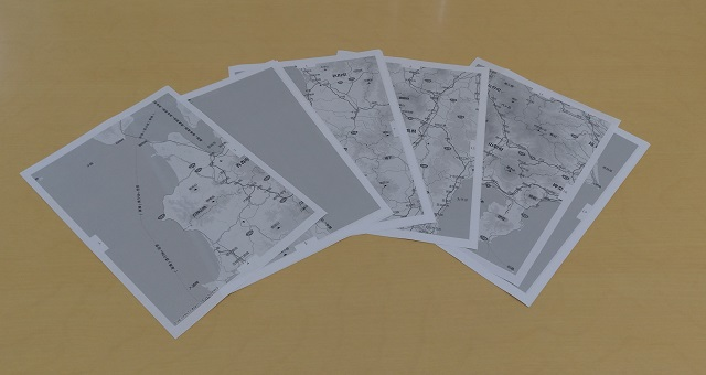 マピオンの超印刷で打ち出した地図