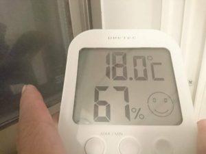 内窓の外の気温