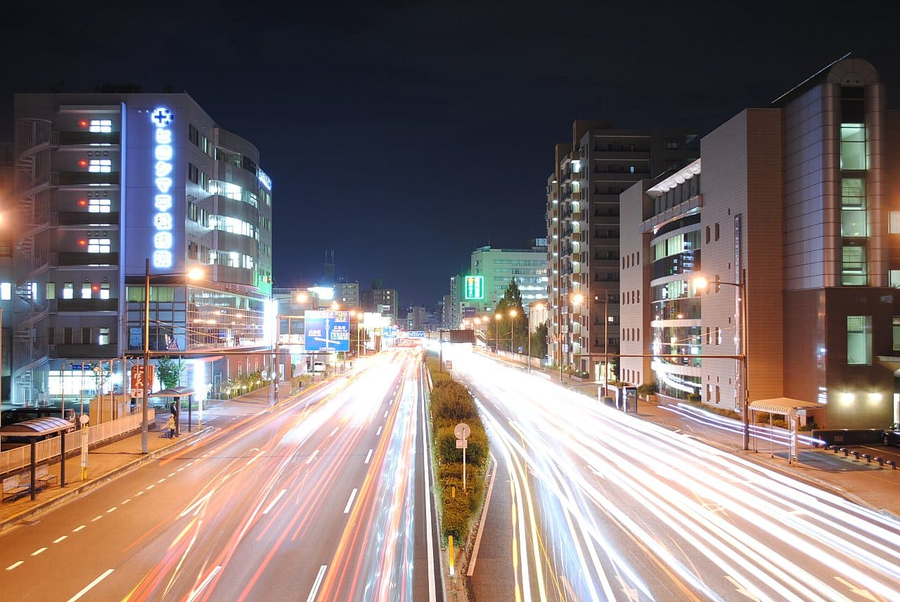 一眼レフでリモコンを使って撮影した夜景