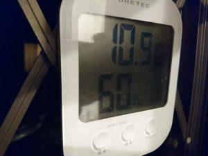 12月の外気温
