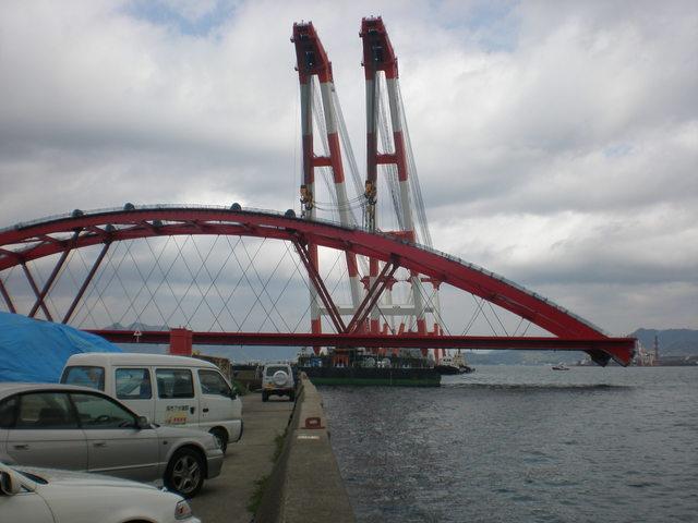 第二音戸大橋を掛けるところ