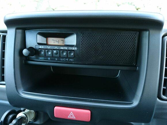 スピーカー内蔵ラジオ