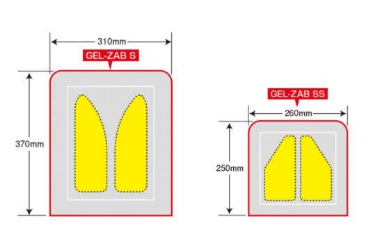 ゲルザブのサイズ比較