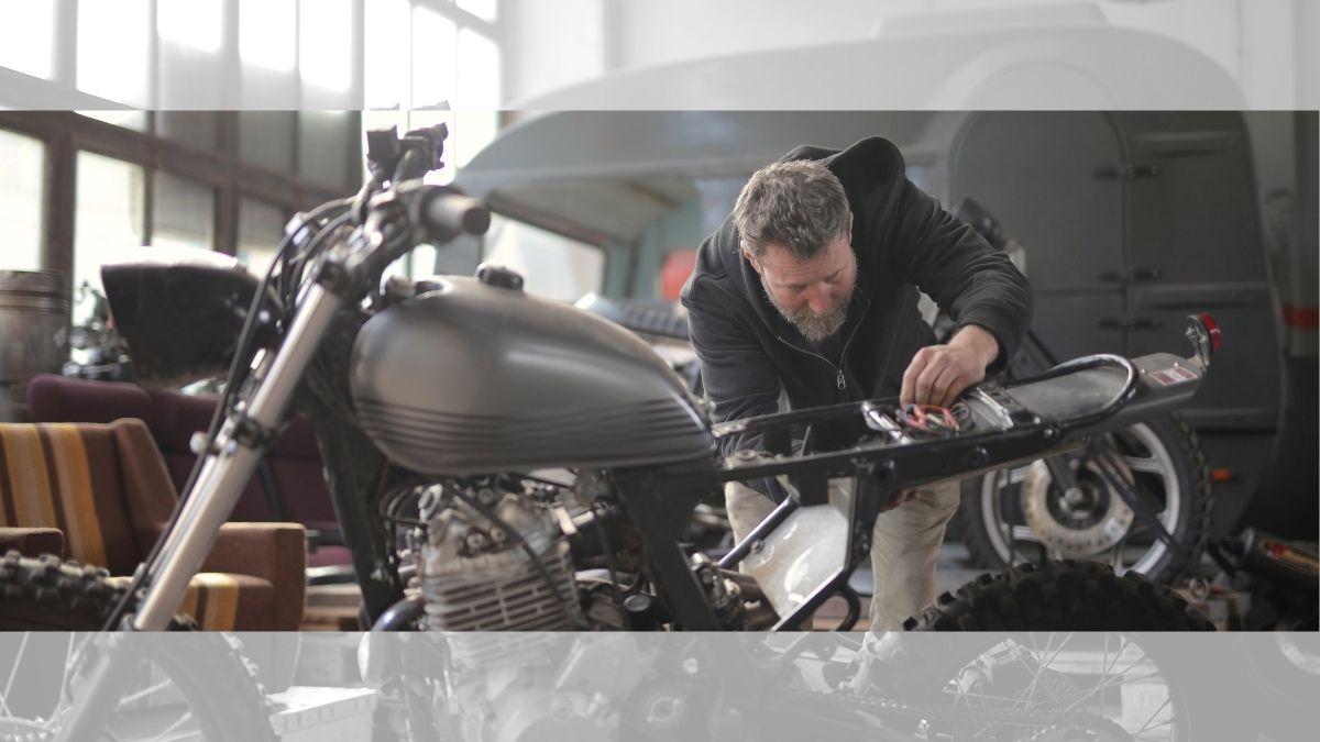 バイクのガレージ