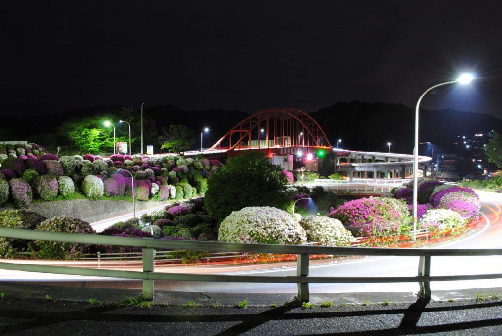 つつじと音戸大橋の夜景