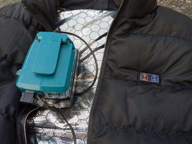 マキタのバッテリーでヒーターベストが使えた