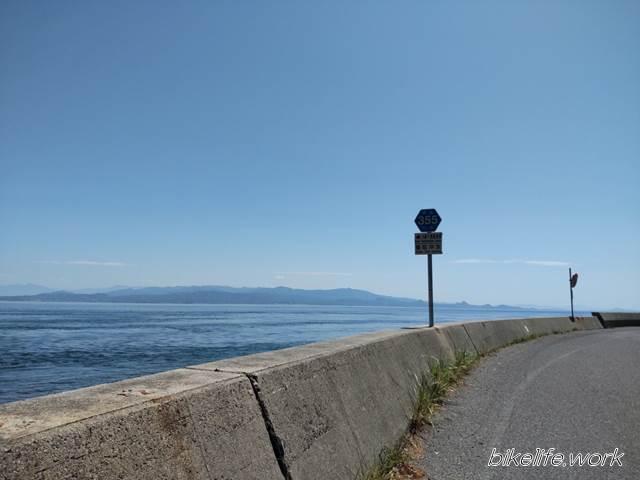 とびしま海道の南側の道路