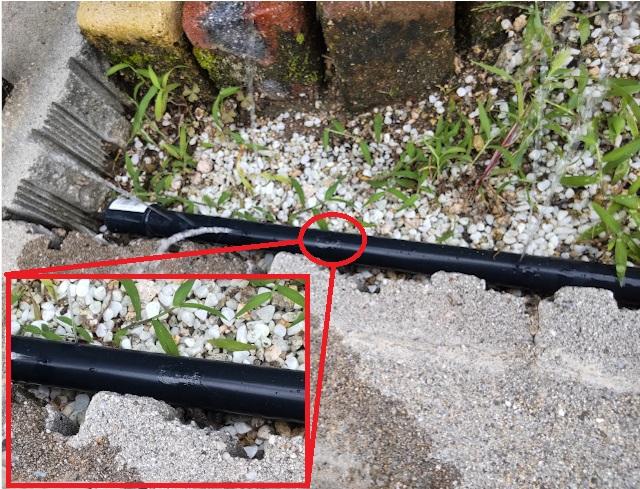 開け損なった穴は配管用接着剤で塞ぐことができる