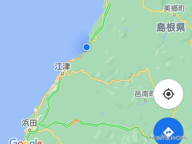 日本海を見るために江津まで来た