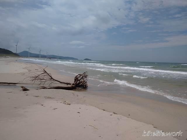江津市にある日本海の砂浜