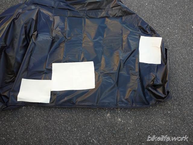 デイトナのシートカバーに貼った遮熱シート